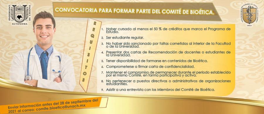 Convocatoria Comité de Bioética