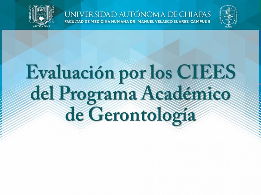 Autoevaluación del Programa Académico de Gerontología