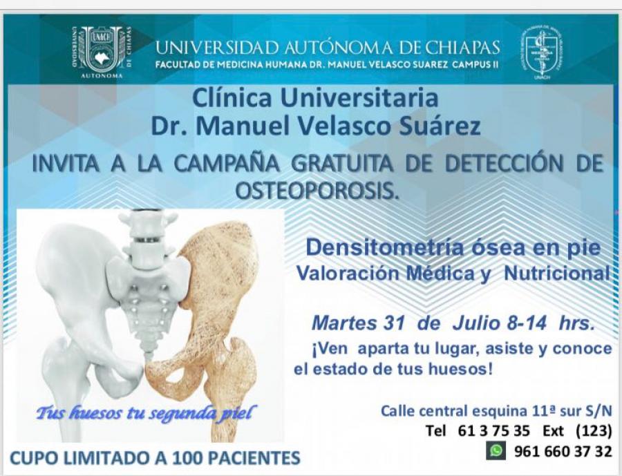 Campaña Detección de osteoporosis
